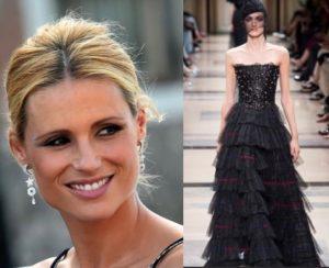 sale retailer 70f87 b8810 Michelle Hunziker l'abito Armani della prima puntata del ...