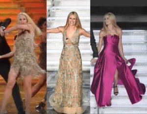 922750209d73 Mini abito sempre di Alberta Ferretti per il ballo con Pierfrancesco Favino  sulle note di Despacito. Cambio d abito scende le scale con un vestito lungo  ...