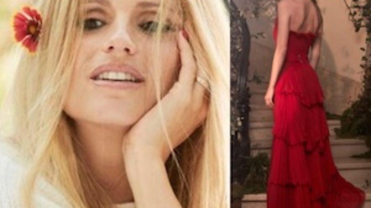 online store 5e332 f8326 L'abito di Alberta Ferretti che indosserà Michelle Hunziker ...