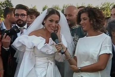 Matrimonio Teresanna Pugliese foto matrimonio ed esclusiva a Pomeriggio 5.  Mentre Francesco Monte 3b917942a25