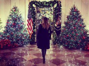 melania trump decorazioni natale 2018 casa bianca