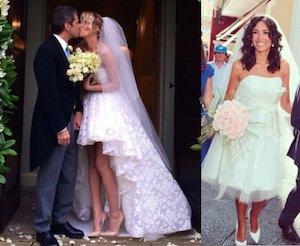 alessia marcuzzi abito nozze e caterina balivo abito nozze corto
