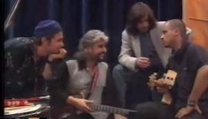 eros ramazzotti pino daniele jovanotti immagini inedite del 1994 prima del tour insieme