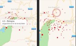 terremoto emilia romagna e toscana in tempo reale oggi