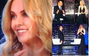 Charlize Theron sa sanremo 2013 abito nero senza sean penn