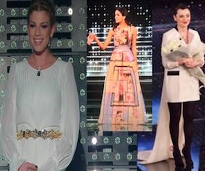 abiti e stilisti emma marrone  arisa rocio morales quarta serata sanremo 2015