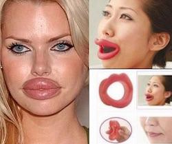 lips duck labbra a papera  silicone  protesi per labbra a papaera