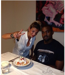 emma marrone ha cucinato per Kanye West
