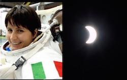 foto eclissi solare dallo spazio di samantha cristoforetti da flickr