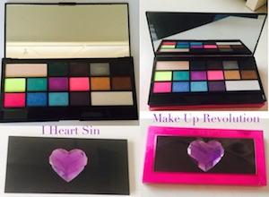 make up revolution palette I Heart Sin gratis londra recenzione ombretti