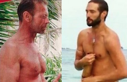 rocco e alex nudi su playa desnuda isola dei famosi