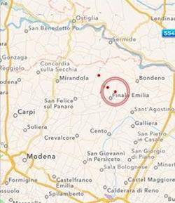 terremoto oggi in tempo reale emilia romagna modena e ferrara finale emilia bondeno cento mirandola sant agostino ultime notizie e scosse
