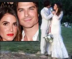 ian somerhalder e nikki reed abito da sposa nozze matrimonio instagram facebook twitter gossip vita privata