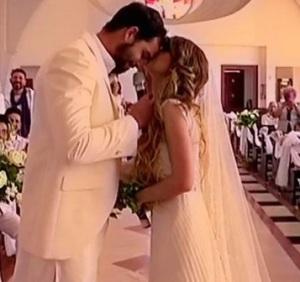Pomeriggio 5- immagini esclusive del matrimonio tra Brice Martinet e Elena Falbo