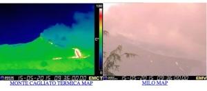 etna immagini oggi in tempo reale  eruzione ultime notizie in diretta