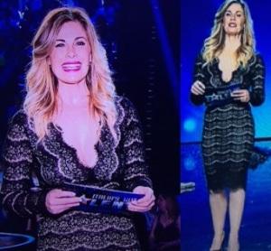 vanessa incontrada abito in pizzo nero tubino finale di italias got talent