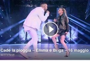 Emma e briga video duetto briga ed emma marrone cade la pioggia sesta puntata de il serale di amici 2015