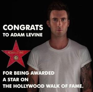 adam levine maroon 5 una stella sulla the hollywood walk of fame