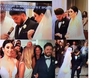 matrimonio di diego armando maradona junior con nunzia video foto pomeriggio 5