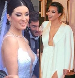 nunzia pennino maradona e kim kardashian in abito da sposa
