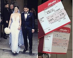 viaggio di nozze a miami diego armando maradona junior e nunzia pennino matrimonio nozze foto video instagram