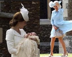 battesimo royal baby principessa charlotte figlia di william e kate middelton camilla si alza la gonna momento imbarazzante