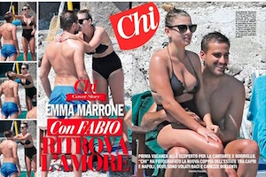 emma marrone con fabio borriello costume e baci hot su chi