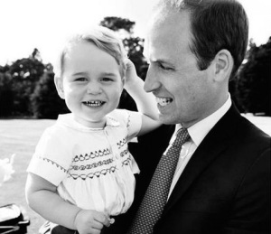 principe george con il principe william la madre kate middleton ultime news