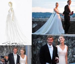 beatrice borromeo abito di nozze matrimonio con pierre casiraghi figlio di carolina di monico stilista armani