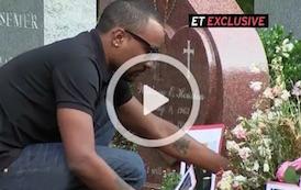 video nick gordon prega e porta i fiori sulla tomba di bobbi kristina brown