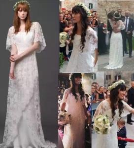 abito da sposa elisa toffoli cantante stilista alberta ferretti modello sposa 2015