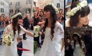 elisa toffoli abito da sposa matrimonio 5 settembre 2015 foto