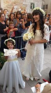 elisa toffoli cantante matrimonio con andrea regonet con la figlia Emma Cecile Rigonat