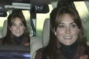 kate middleton con la frangetta nuovo taglio di capelli duchessa di Cambridge