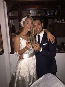susy fuccillo in abito da sposa matrimonio con marco carta