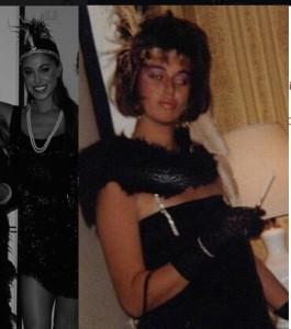 mamma belen rodriguez veronica cozzani identica alla figlia belen foto festa anni 20