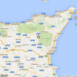 terremoto oggi in sicilia in tempo reale catania randazzo parco etna troina