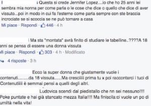 commenti negativi su ludovica valli uomini e donne da facebook