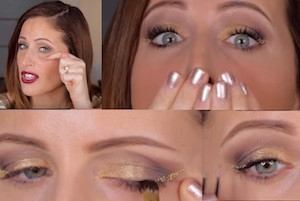 clio make up youtube video trucco di capodanno 2016 con perline smalti pupa