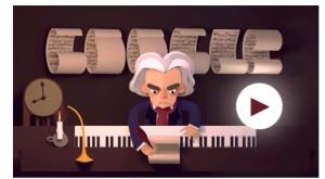 Doodle di Google 2015 dedicato alla nascita di Beethoven