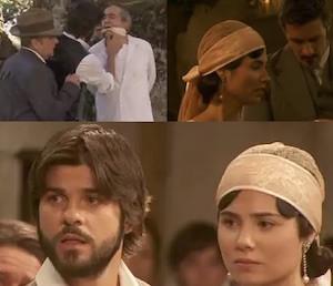 bosco rapisce don anselmo e distrugge la chiesa segreto telenovela maria e gonzalo si sposano nonostante il piano di donna francisca e bosco