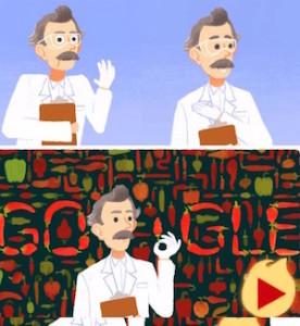 doodle di google di oggi Wilbur Scoville e Scala di Scoville- test per la pincatezza dei peperoncini