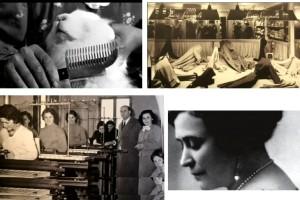immagini storiche e vere di luisa spagnoli fabbrica di vestiti abbigliamanto colelzione lana d angora conigli