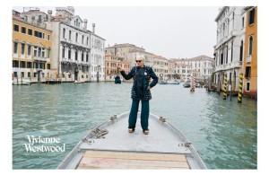 vivienne westwood campagna pubblicitaria a venezia