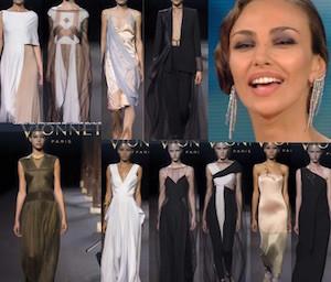 Madalina Ghenea abito dello stilista Vionnet