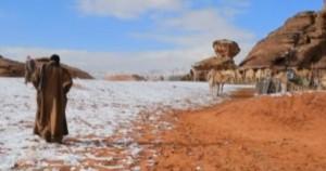 neve in arabia saudita e kuwait