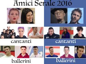 amici serale 2016 squadre vincitore eliminato prima puntata
