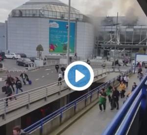 esplosione areoporto bruxelles immagini video in diratta durante attentato