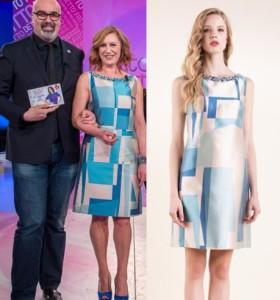 cambio look giovanni ciacci detto fatto abito luisa spagnoli stilista marchio brand