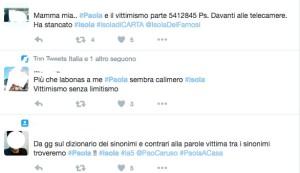 critiche a paola caruso su twitter isola dei famosi